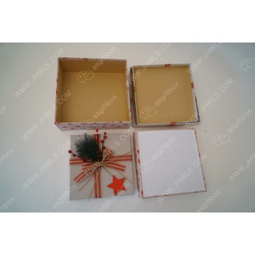 Christmas Theme Linen Dried Flower Decorative Gift Box