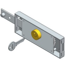 Left bolt roller shutter lock
