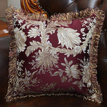 Satin Jacquard Tassel Edge Decorative Pillowcases
