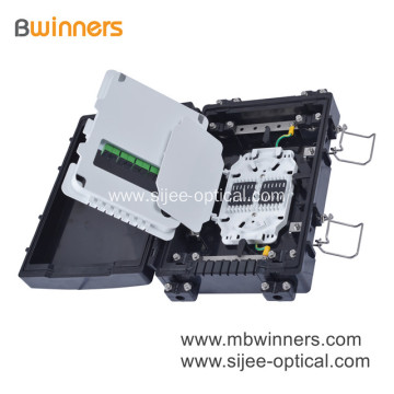 24 Core Fiber Optical Splice Closure with 3 Piece 1X8 PLC Splitter