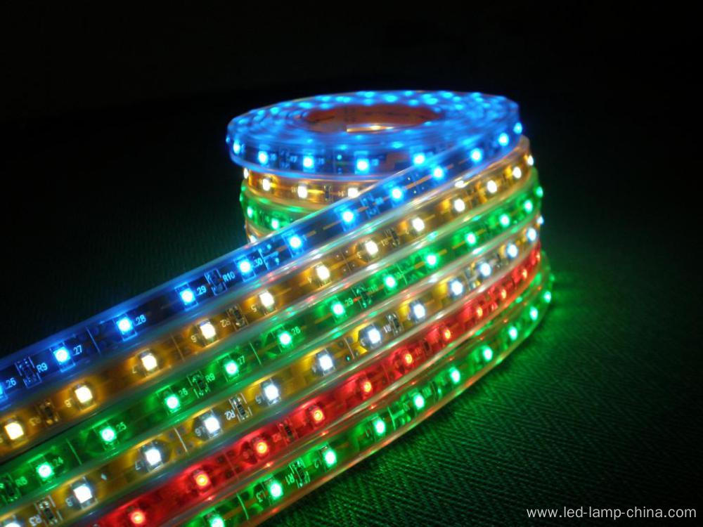 Waterproof smd5050 LED Strip Light with RGB led strip 220v