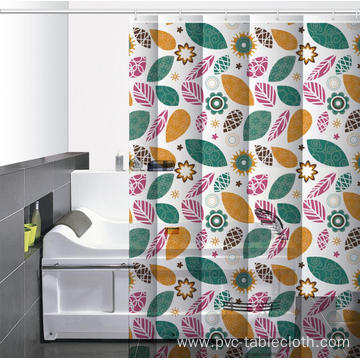 Waterproof Bathroom printed Shower Curtain with Window