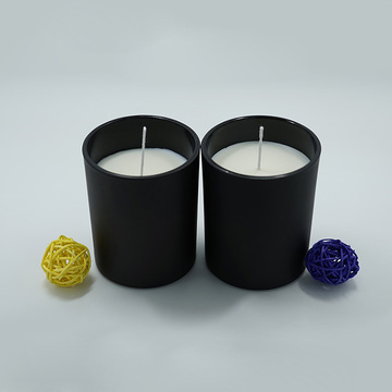 Soy Wax Candle in Black Glass Jar