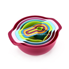 Supply for Spoons Measuring Cups Sweet Color Mixing Bowl 10pcs Set supply to France Importers