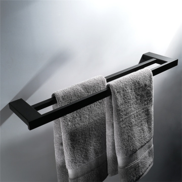Stainless Steel Bathroom Accessories Black Towel Rack