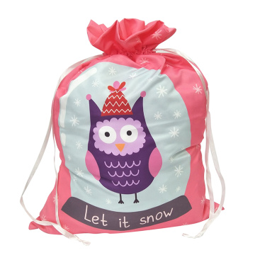 Christmas sack with cute owl pattern