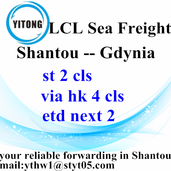 Global International Ocean Freight from Shanou to Gdynia