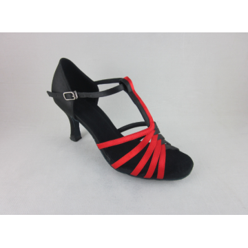 Ladies red dance shoes