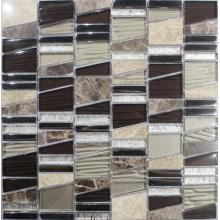 Brown Irregularity Marble Mixed Mosaic Tile