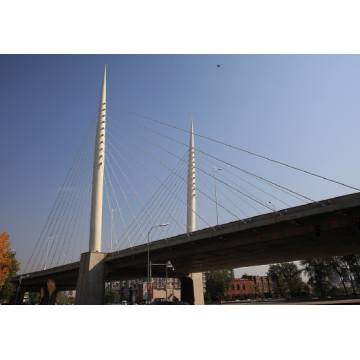 Single And Double Lane Steel Structure Overpass Bridge