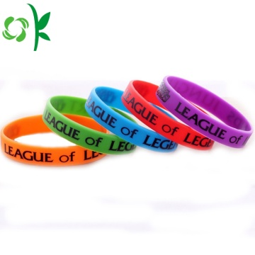 Eco-friendly Common Silicone Printing Logo Bracelet/Bangles