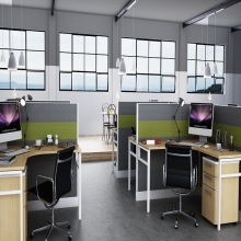 Special Design for for China Cubicle Workstation,Office Cubicle Workstation,Contemporary Office Cubicles Supplier hot sale office furniture simple table workstation supply to Argentina Factory