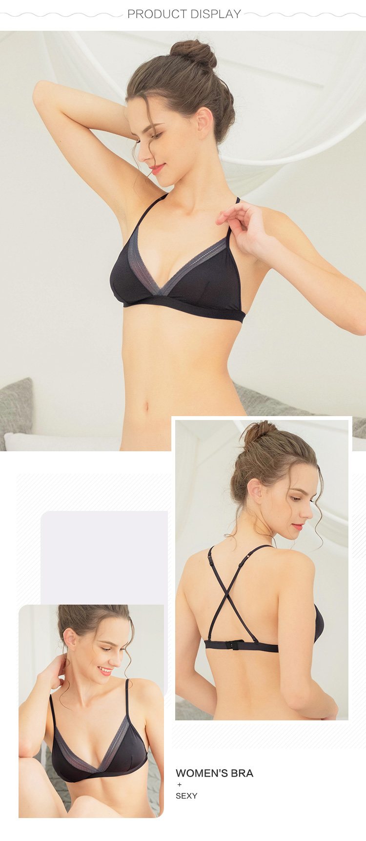 Women bralette-Product display