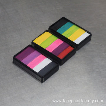Professional Body Art Split Cake Rainbow Face Paint