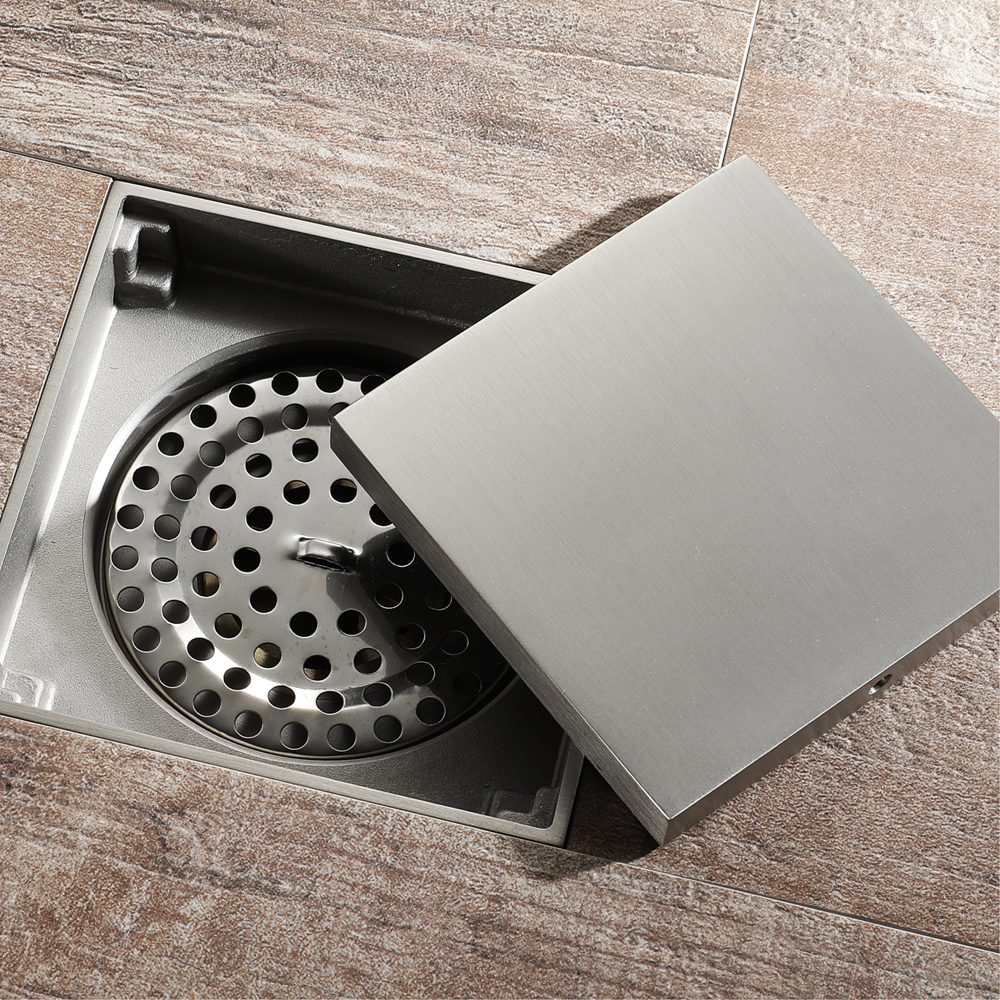 Bronze Brush Nickel Floor Drain
