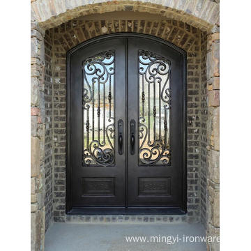 China for China Wrought Iron Doors,Iron Doors,Safety Wrought Iron Door Manufacturer Eyebrow Iron Door export to Bahamas Exporter