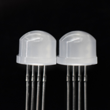 8mm RGB LED Diffused Straw Hat LED 0.2W