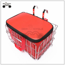 hanging bicycle steel basket with inner bag