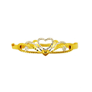 Bangle with Heart Shaped Decoration