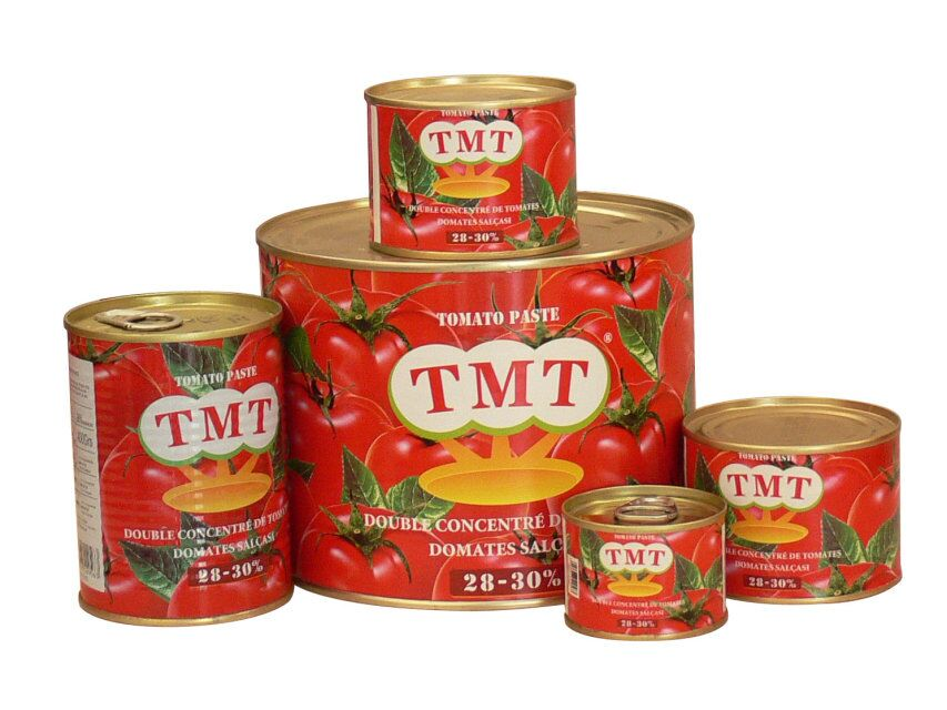 Organic canned tomato paste from Xinjiang