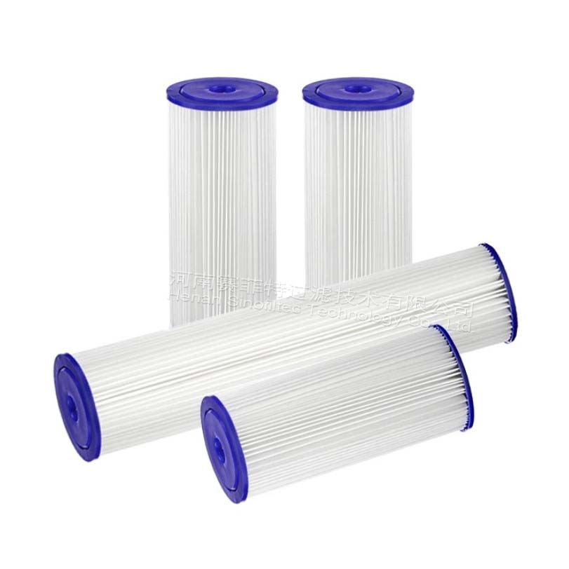 20 micron pleated water filter