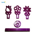 Plastic 3D Flower Shaped Cookie Cutter Set