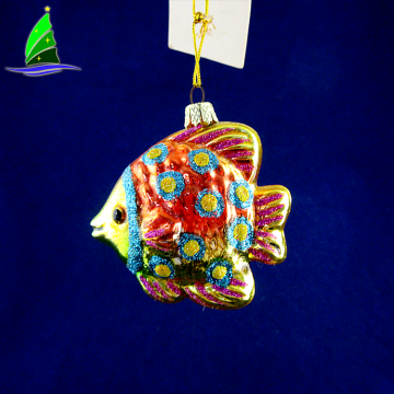 Christmas Colorful Glass Tropical Fish Ornament Decorations