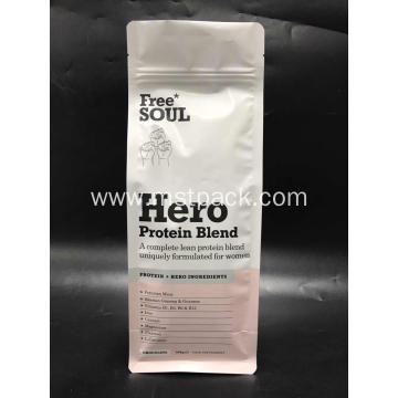 Flat Bottom Pouch for Protein Blend