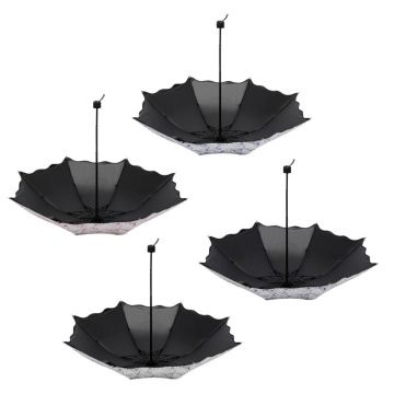 Women Anti UV Sun Protection Windproof Flower Umbrella
