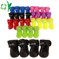 Waterproof Rain Boots Silicone Jelly Color Pet Shoes