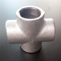 Cross malleable iron pipe fitting