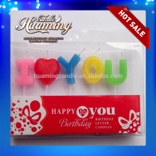 Customized for Birthday Cake Letter Candles Wholesale Alphabet Birthday Candle export to Russian Federation Suppliers