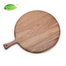 Natural Acacia Wood Pizza Board With Handle