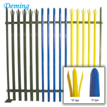 Euro ornamental galvanised powder coated steel picket palisade fence