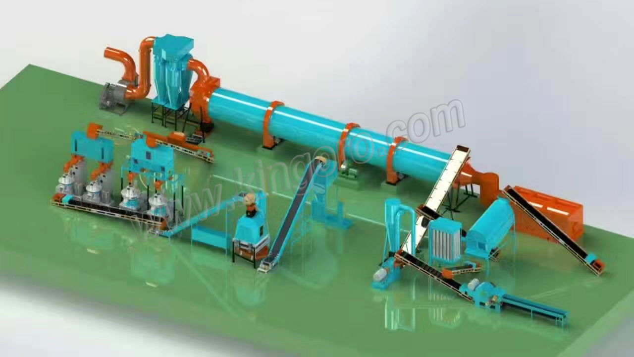 1-1 bioamss wood pellet production line drawings