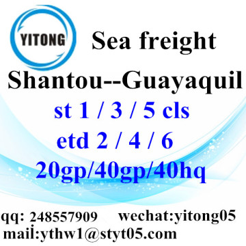 Shantou Sea Freight Shipping Services to Guayaquil
