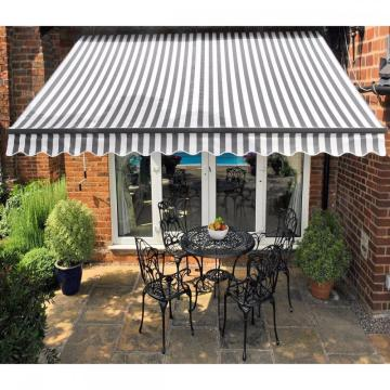Retractable arms awning 3.0*1.5M Green/White Stripes