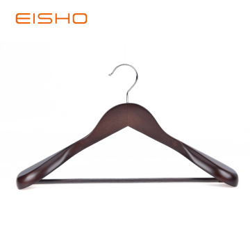 China for Wood Clothes Hangers EISHO Luxury Extra Wide Wood Coat Suit Hangers export to Japan Exporter