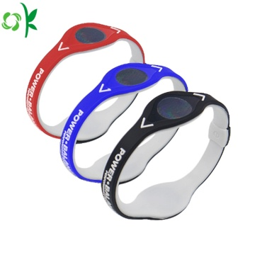 Popular 2layer Silicone Power Bracelet for Sport