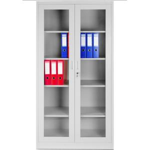 White Glass Door Office Cupboard