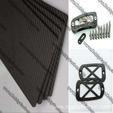 I-CNC machining 3k twill matte carbon fiber sheet