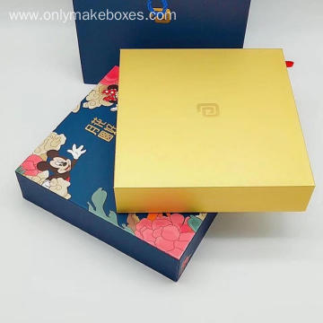 Custom Moon Cake Boxes With Bag together