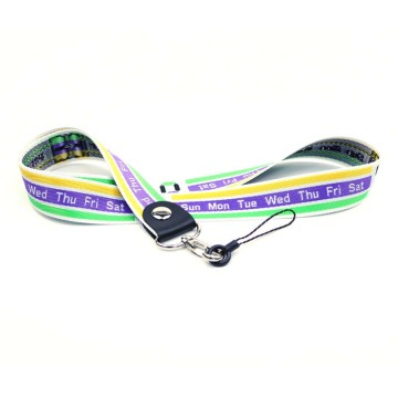 High quality branded badge lanyards with logo pattern