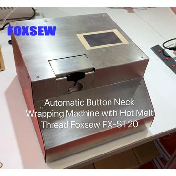Automatic Button Neck Wrapping Machine with Hot Melt Glue Thread