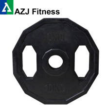 10KG Black Rubber Coated Olympic Weight Plate