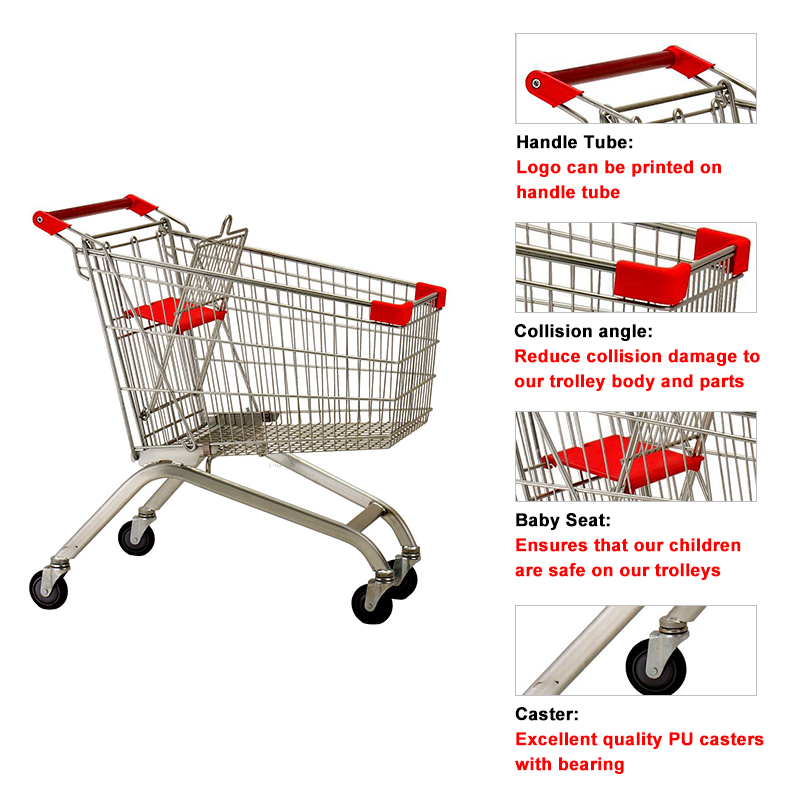 shopping cart with 4 wheels
