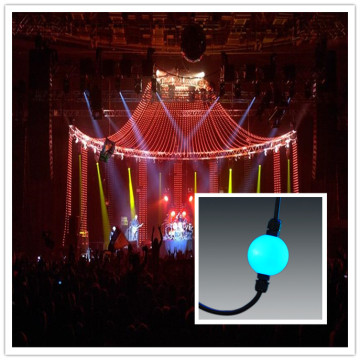 Outdoor 3d rgb led dmx pixel hanging ball