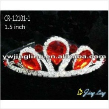 Red Crowns Rhinestone Cheap Girls Tiaras