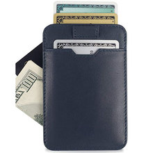 Vintage Slim Leather Men Key Card Wallet