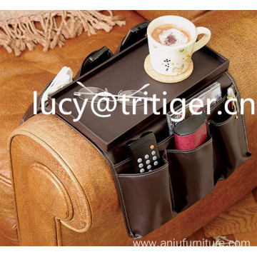 High Quality Leather 8 Pocket Sofa Armrest Organizer
